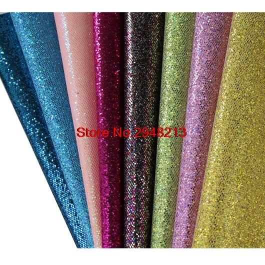 20 цветов блестящие блеск синтетический искусственная кожа ткань Vinly для День святого Валентина волос лук сумки 20 * см 34 см 10 шт./лот PGL07