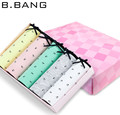 B.BANG Lovely Bow Cotton Briefs Women Elastic Dot Panties Underwear for Women 5 pcs/lot M-L-XL Wholesale