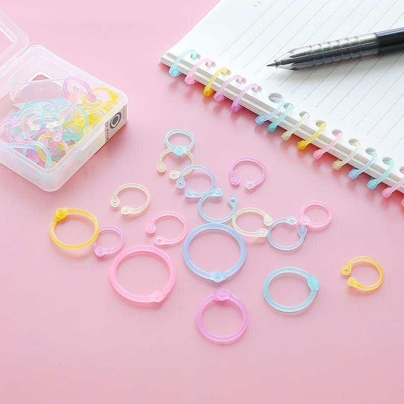 1 Box Paper Book Loose Leaf Binder Multi-function Circle Key Ring Calendar Ring
