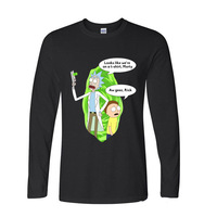 2017 Hot Selling Funny Cool Rick Morty On A T Shirt Funny Long Sleeve T Shirt