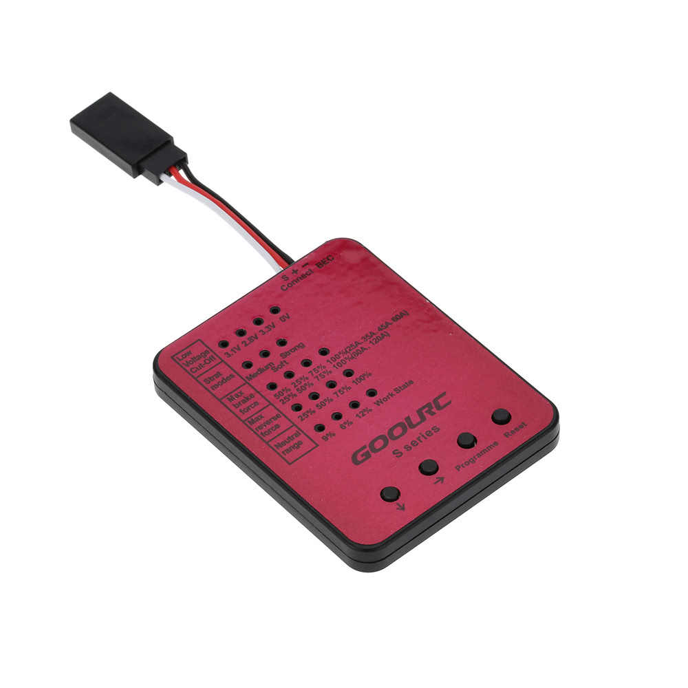 Original GoolRC S3650 3900KV Sensorless Motor sin escobillas 60A ESC sin escobillas y juego de Combo de tarjeta de programa para coche 1/10 RC