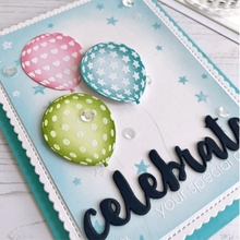 ZhuoAng Happy Birthday Beautiful Balloon Cutting Dies Clear Stamps For DIY Scrapbooking/Album Decorative Silicon Stamp Crafts