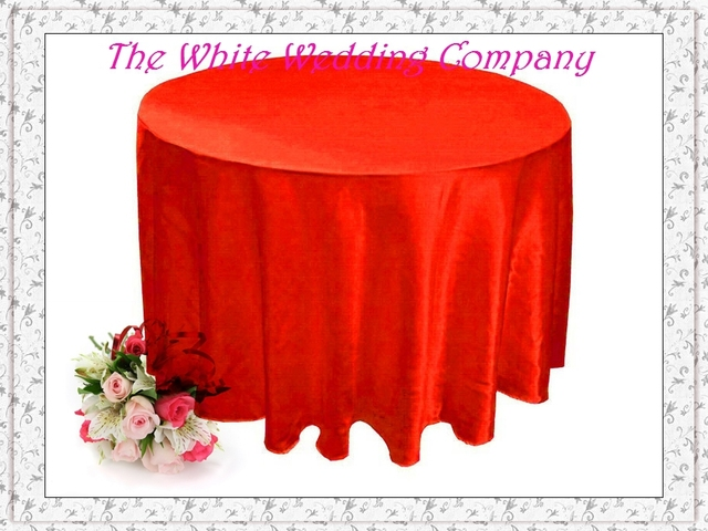10 Pcs 70u0027u0027 Round Satin RED Wedding Table Covers Party Table Cover Party  Table