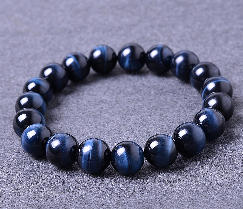 16mm Blue Tiger Eye Natural Stone Bracelets For Women And Men Jewelry Crystal Silver Charm Bracelets Bangles Elastic Rope Chain цена 2017