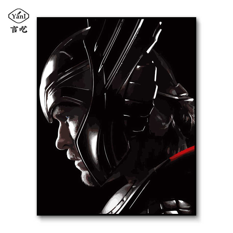 Thor painting by numbers framed Marvel Canvas Paint By Number The Avengers DIY Oil drawing by numbers Kits for Adults