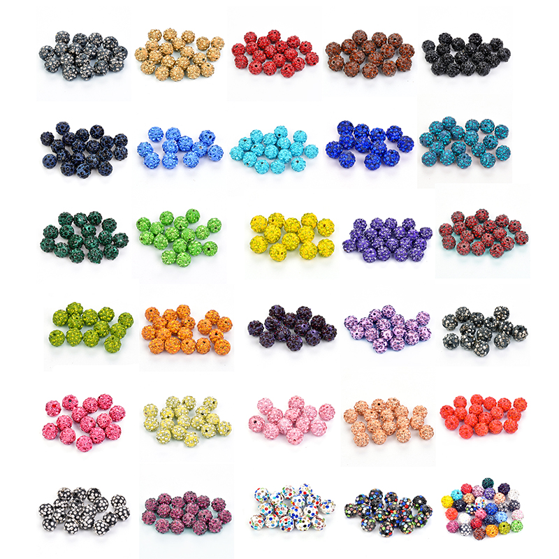 Jewelry & Accessories 50pcs 10mm Clay Disco Ball Pave Crystal Shamballa Beads Wholesale 33colors In Total For Jewelry Making Yet Not Vulgar