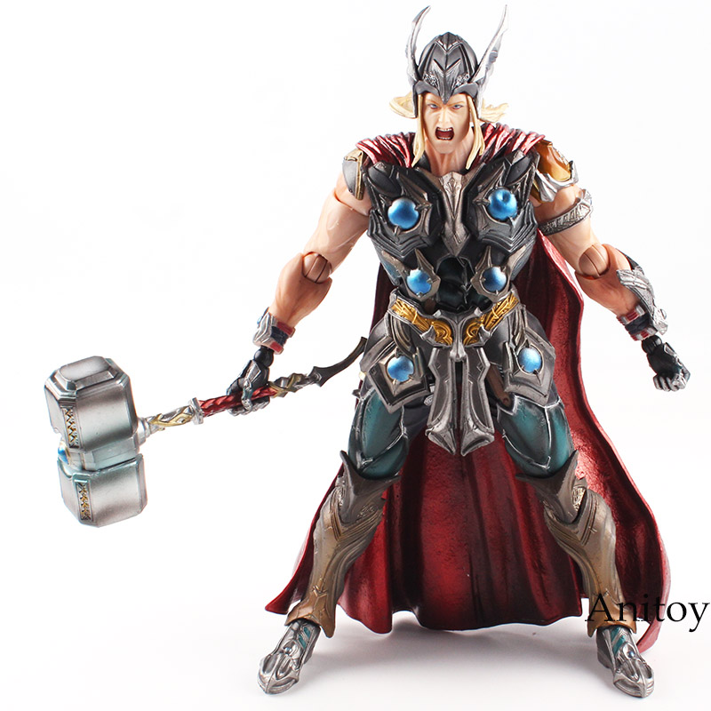 Variant Play Arts KAI Marvel Action Figure Universe Thor Hero PVC Action Figure Collectible Model Toy 26cm play arts kai street fighter iv 4 gouki akuma pvc action figure collectible model toy 24 cm kt3503