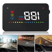A200 3.5 Inch Car HUD Head Up Display Speedometer OBD2 II EUOBD Auto Projector Parameter Display with Overspeed Warning