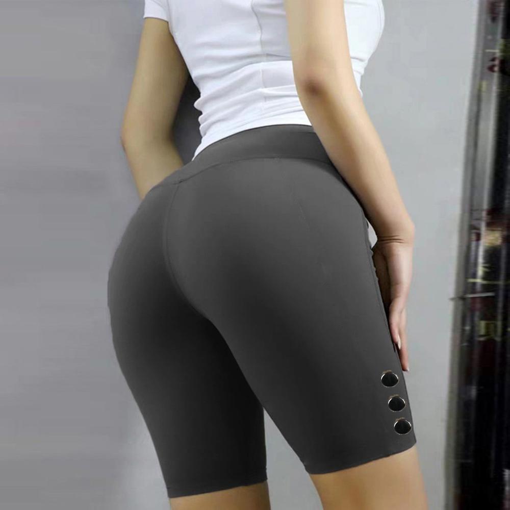 2019 Women Leggings Sport Women Fitness Push Up Basic Slip Bike Short Compression Workout Leggings Short Capris Leggins Mujer #0