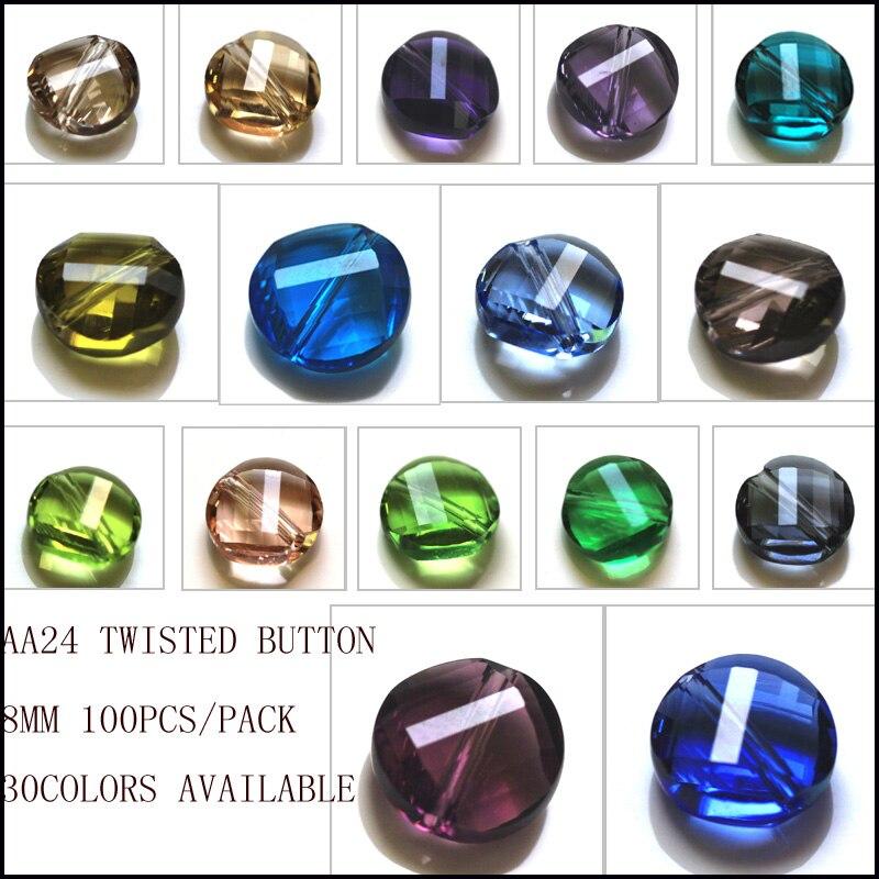 Livraison gratuite en gros torsion bouton perles pour la fabrication de bijoux 100 pièces bricolage tissu accessoire perles AAA qualité