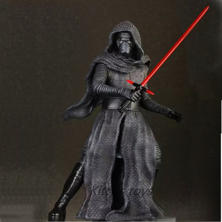 Crazy Toys Star Wars The Force Awakens KYLO REN PVC Action Figure Collectible Model Toy 22cm Free shipping KB0274 crazy toys star wars the force awakens kylo ren pvc action figure collectible model toy 22cm tmd088