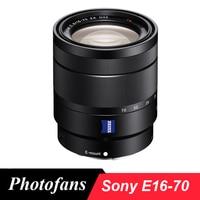 Sony-lente para câmeras vario-tessar t * e 16-70mm f/4 za, lentes oss para sony a6400 a6500 a6300 a6000 a5000 a5100