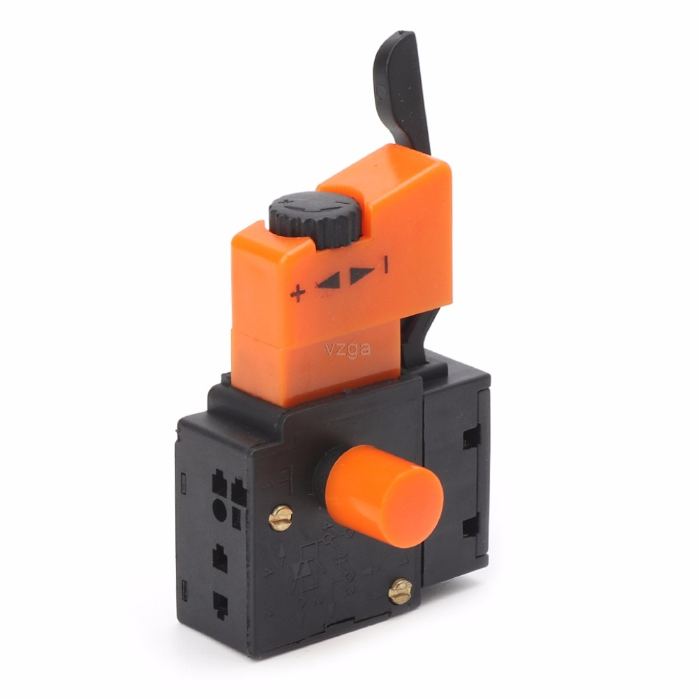 AC 250V/4A FA2-4/1BEK Adjustable Speed Switch For Electric Drill MAY18 dropshipping fa2 6 1bek lock on power tool electric drill speed control trigger switch