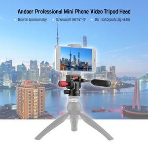 """Image 5 - Andoer professionnel Mini téléphone vidéo trépied tête vidéo trépied Action fluide glisser la tête avec 1/4 """"monture à vis"""