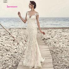 LEIYINXIANG New Arrival Bride Dress 2019 Wedding Dress Vestido De Noiva Sereia Robe Sexy Mermaid Backless Lace Appliques V-Neck подушки легкие сны подушка лель средняя 70х70