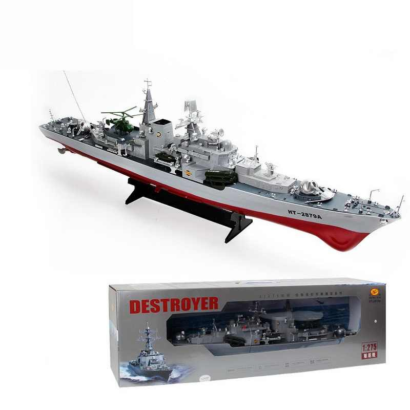 2879A 1:275 Remote radio control military RC boat destroyer model toy  Simulation Model RC Warship Cruiser Warship best gift