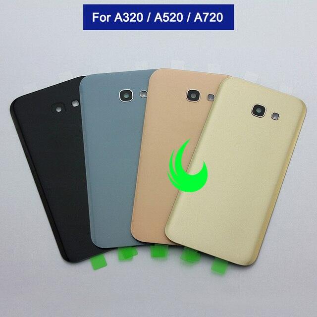 מקורי חזרה זכוכית עבור Samsung Galaxy A3/A5/A7 2017 חזור סוללה כיסוי זכוכית A320 A520 A720 אחורי דלת דיור מקרה w מצלמת עדשה
