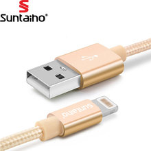 Suntaiho For iPhone 7 6 Plus 6S 5 5S USB Charger Nylon Braided Cable For Lightning Fast Charging Data Sync Mobile Phone Cable
