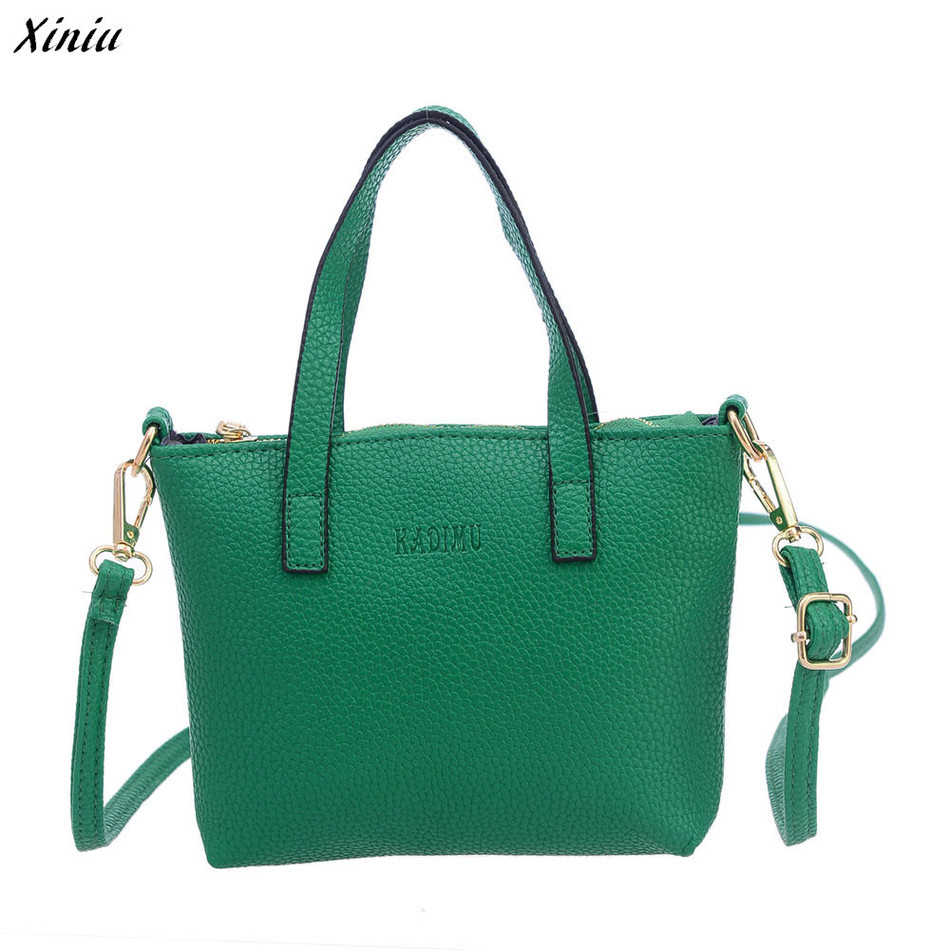 XINIU Women Leather Handbags PU Solid Women Messenger Bags Large Casual Tote Women Bag Sac Femme bolsa feminina gift#0 kzni genuine leather bag female women messenger bags women handbags tassel crossbody day clutches bolsa feminina sac femme 1416