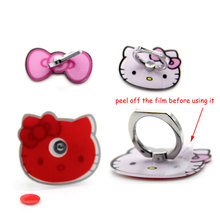 Bow Cat 360 Finger Ring Mobile Phone Smartphone Stand Holder For iPhone/Samsung/Xiaomi Smart Phone GPS MP3 Car Mount Stand