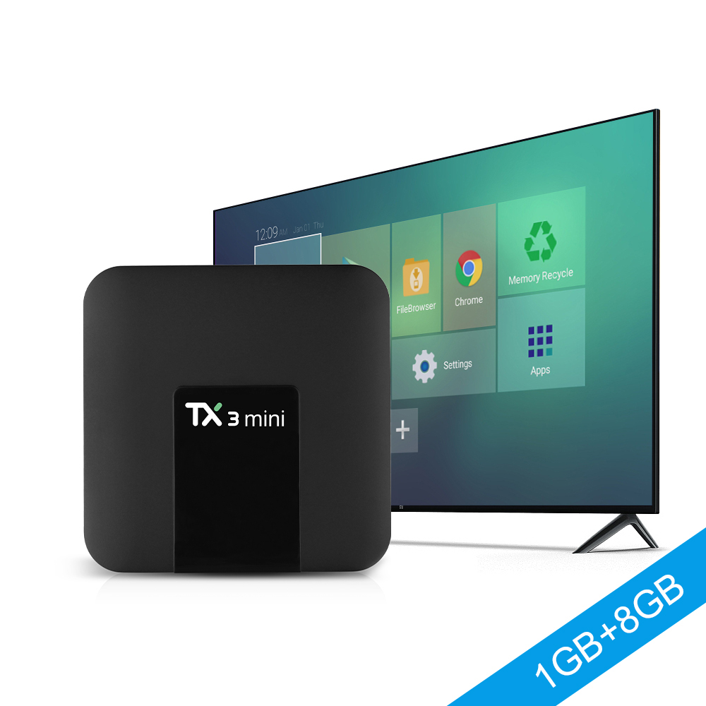 TX3 MINI Android 7.1 Box 1G/8G SmartTV Box iView Xtrix un an de service vient Android Box OTT BOX