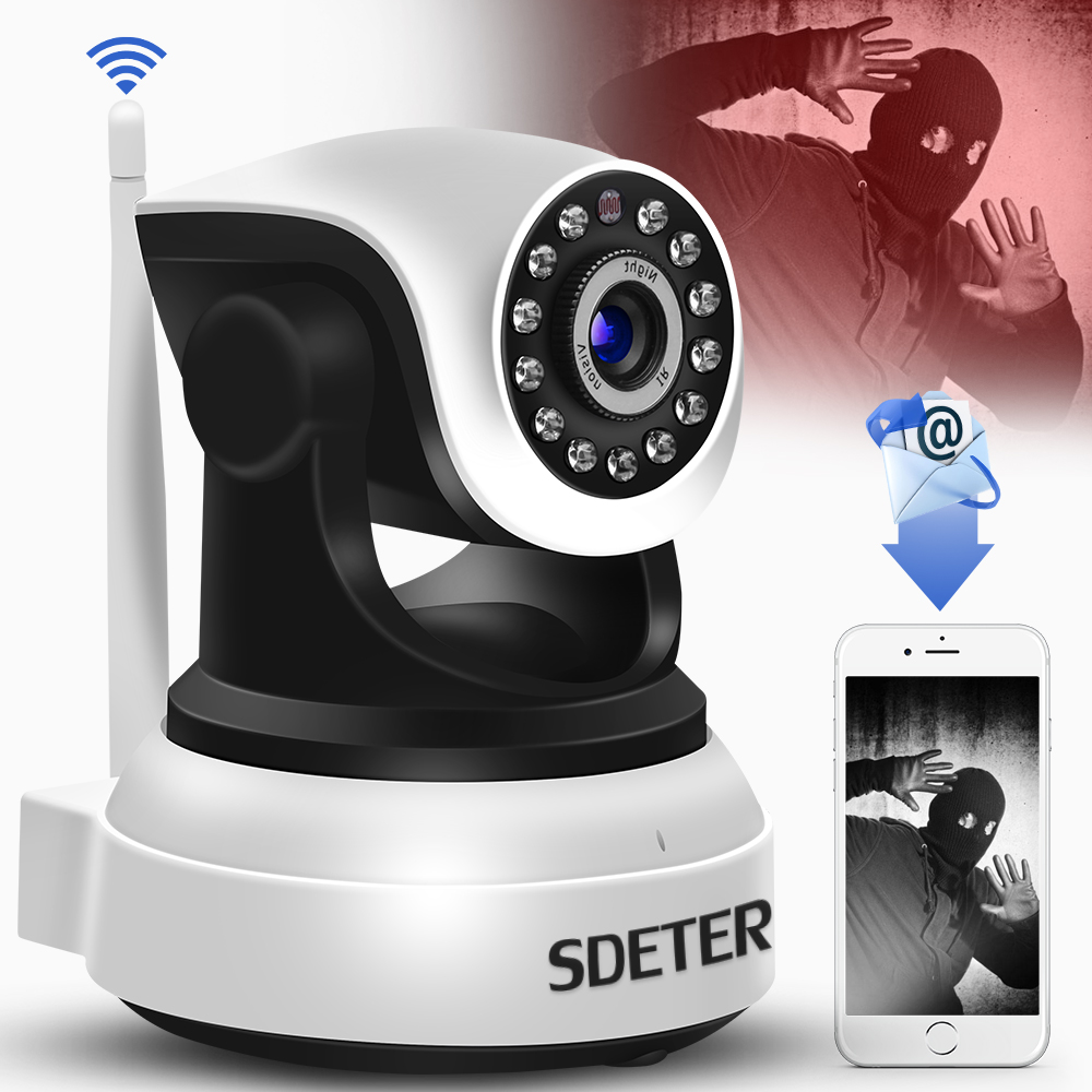 SDETER Wireless Security IP Camera WIFI Home Surveillance 720P Night Vision CCTV Camera IP Onvif P2P Baby Monitor Indoor Webcam hd 720p ip camera onvif black indoor dome webcam cctv infrared night vision security network smart home 1mp video surveillance