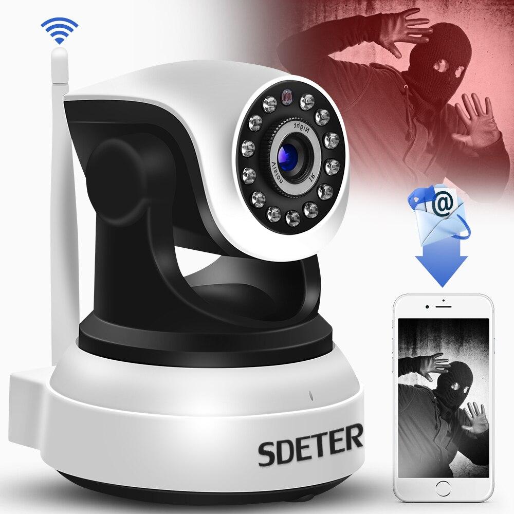Sdeter seguridad inalámbrica cámara IP WiFi vigilancia 720 p visión nocturna CCTV cámara IP ONVIF P2P bebé Monitores interior webcam