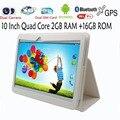 10 Polegada Clássico 3G Quad core Android4.4 Tablets pc 2 GB 16 GB WIFI 2 cartão sim de telefone chamada inteligente tab pad adicionar capa de couro pc tablet