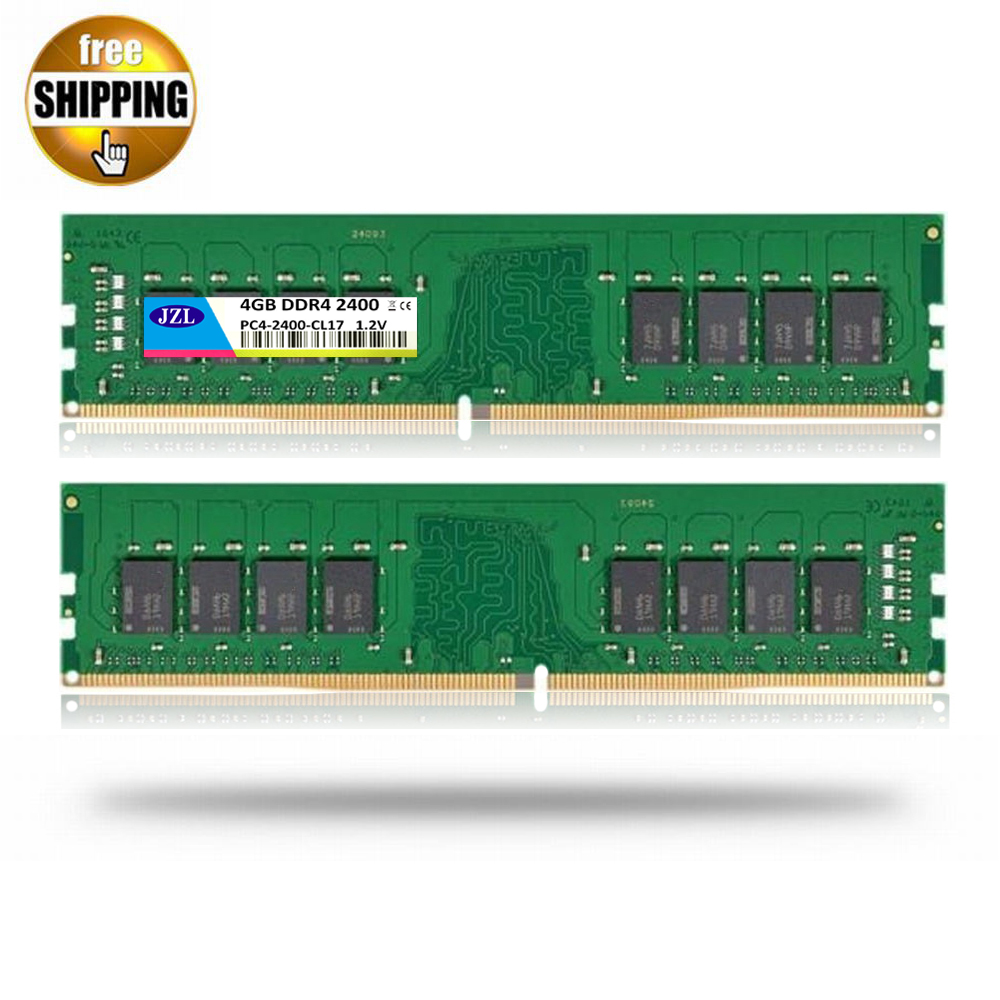 JZL LONG-DIMM PC4-19200 DDR4 2400MHz 4 GB / PC4 19200 DDR 4 2400 MHz 4GB LC17 288-PIN Desktop PC Computer Ram DIMM Memory Stick модуль памяти patriot memory ddr4 so dimm 2400mhz pc4 19200 cl17 4gb psd44g240041s
