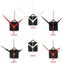 Silencioso grande parede relógio de quartzo movimento mecanismo preto & vermelho mãos reparação ferramenta peças kit diy conjunto com gancho transporte da gota