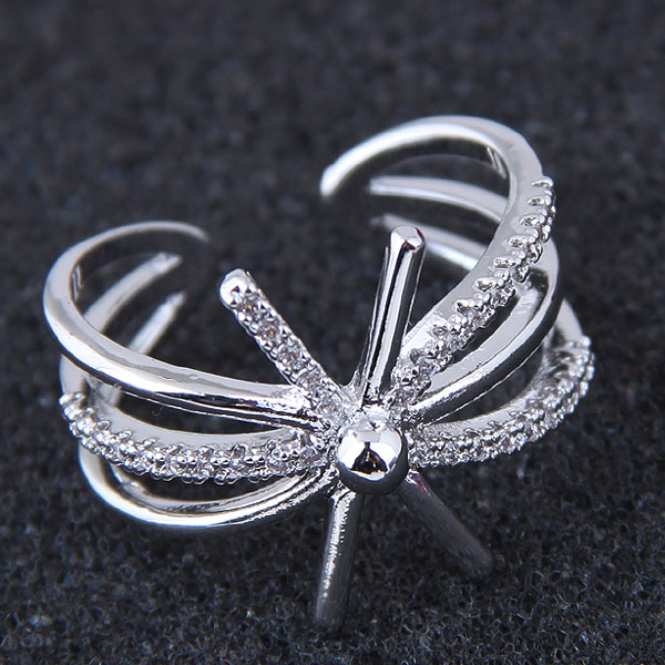 Love Ring Silver Color Women Fashion Openalble Rings Midi Finger punk Rings anelli bague homme Jewelry