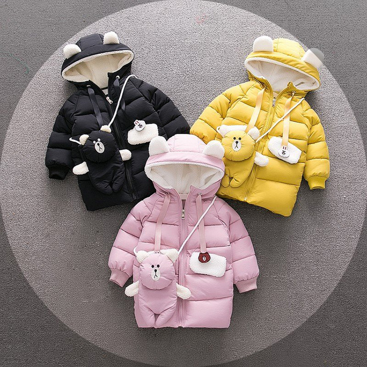 Children Jackets Boys Girls Winter down coat Baby Winter Coat Kids warm outerwear Hooded Coat snowsuit Overcoat Clothes with Bag winter jackets for boys warm coat kids clothes snowsuit outerwear