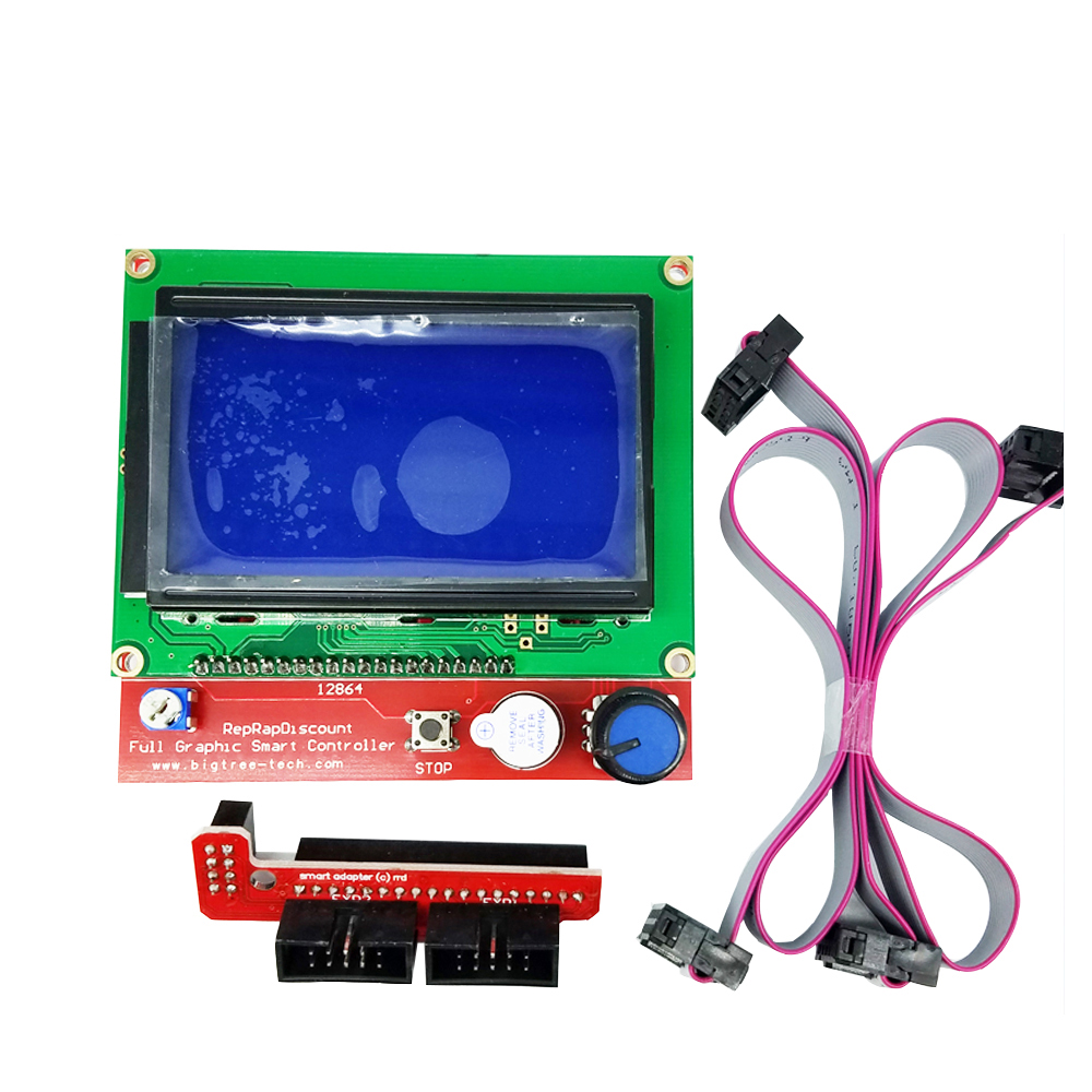 1set/lot 12864 LCD Ramps Smart Parts RAMPS 1.4 Controller Control Panel LCD 12864 Display Monitor Motherboard Blue Screen Module