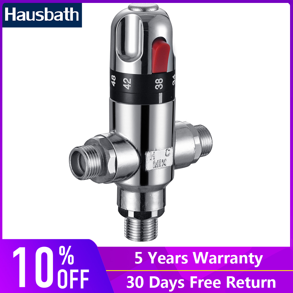 Thermostatic Mixing Valve Temperature Control Water Mixer Solar Cooper Valve Core Heater Valve Parts Ceramic Cartridge 3 way brass thermostatic mixing valve solar water heater valve adjust temperature control valve thermostatic mixer valve