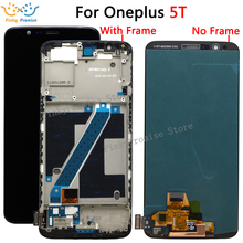 100% اختبار OLED ل Oneplus 5T A5010 شاشة الكريستال السائل مجموعة المحولات الرقمية لشاشة تعمل بلمس 2160*1080 الإطار مع أدوات