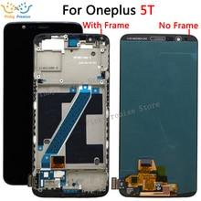 % 100% test edilmiş OLED Oneplus 5T için A5010 LCD ekran dokunmatik ekranlı sayısallaştırıcı grup 2160*1080 çerçeve araçları ile