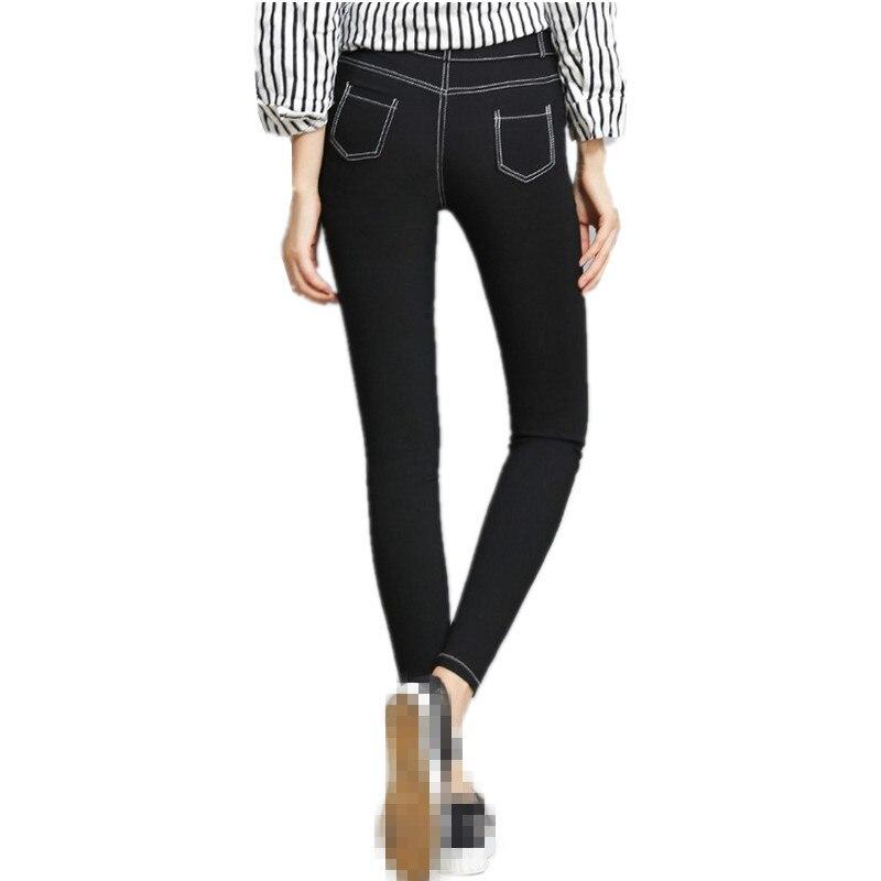 ZB2963 Spring 2020 new Korean version women's fashion slim elastic skinny pencil jeans cheap wholesale