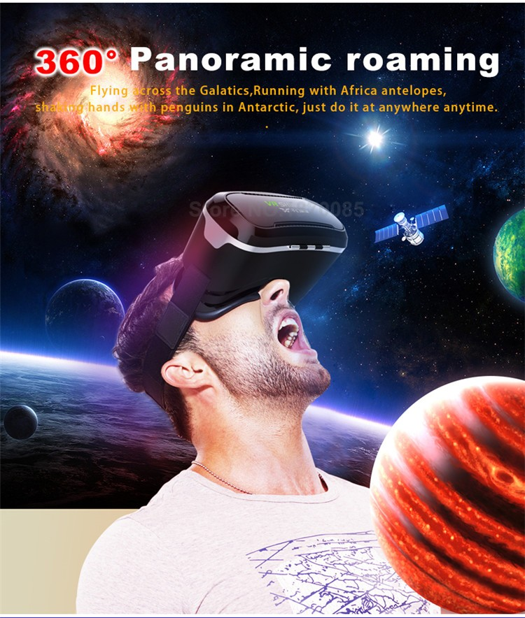 New VR Shinecon II 2.0 Helmet Cardboard Virtual Reality Glasses Mobile Phone 3D Video Movie for 4.7-6.0 Smartphone with Gamepad (6)