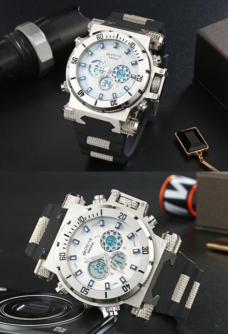 mergulho relógios esporte marca de luxo led