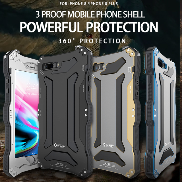 on sale 9995d 68e98 US $20.62 |For Iphone X XS XR XS MAX R JUST Gundam Armor Life Waterproof  shockproof Aluminum Metal Powerful Cover Case For Iphone 7 8 Plus-in Fitted  ...