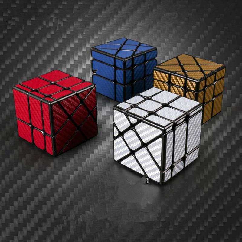 Мою MF классе Magic Скорость кубики углерода поверхность волокна Фишер Cubo hotwheel витой Cube обучения игрушки Мэджико Cubo