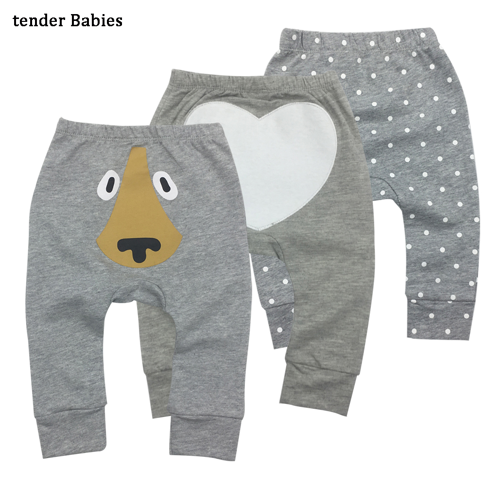Toddler baby bibs Girl boy Harem Pants Boys Girls 2018 New arrival casual Cartoon Bottoms Pants Leggings Trousers 3ps/lot 2018