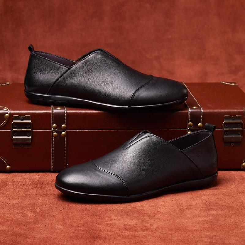 Mens pantofi de moda din piele natural respirabil masiv pantofi - Pantofi bărbați - Fotografie 3