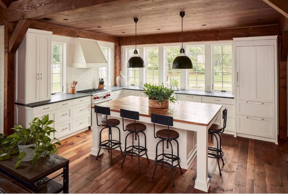 2018 Классическая шейкер стиль твердой древесины кухонные шкафы современная кухня мебель SKC80905