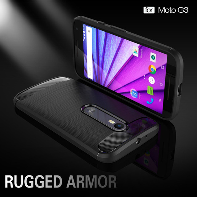 Luxury Brushed TPU Silicone Phone Case For Motorola Moto G3 G 3rd Gen 3 Case Cover Coque Fundas MOTO G3 Phone Case Capa Housing