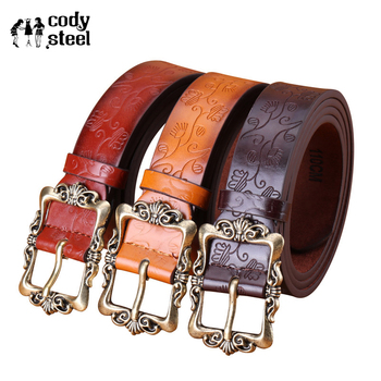 3f7b29a448 Nouveau 2019 ceintures pour femmes marque en relief populaire boucle femmes  ceintures décontracté cuir dames boucle ceinture