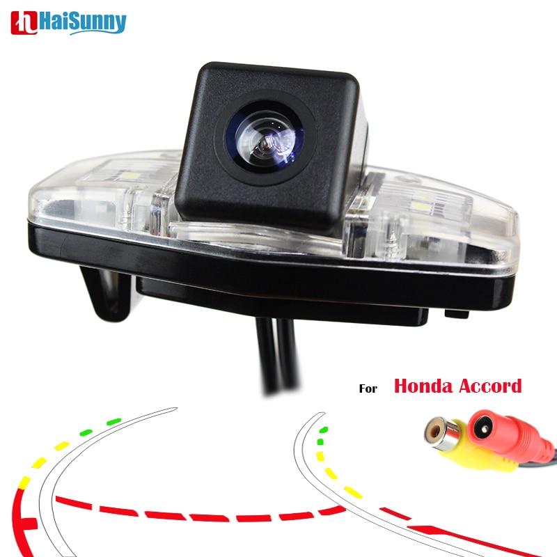 HaiSunny Smart Dynamic Track Reverse Parking Camera For Honda Accord 7 (2003-2007)2008 2009 2010 Rear View CCD Camera Camera(China)