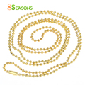 "8SEASONS Ball Chain Necklaces Gold Plated 80cm(31 4/8"") long,12PCs (B31373)"