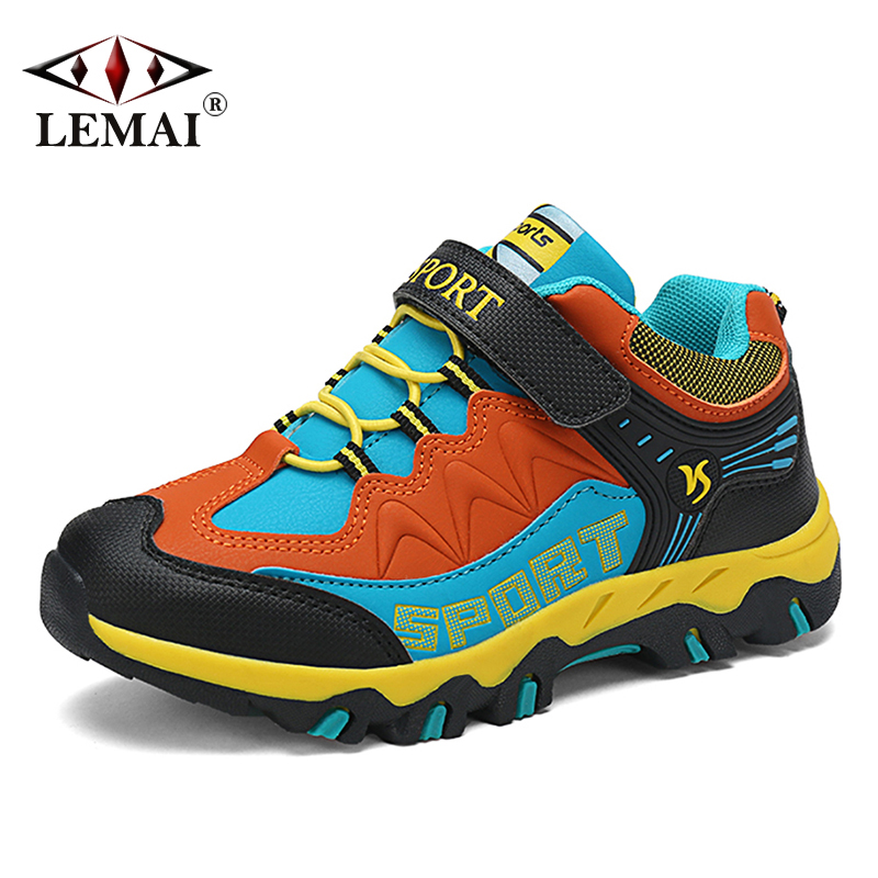 Kids Hook Loop Sports Sneakers Toddler Running Hiking Casual Soft Shoes Trainers