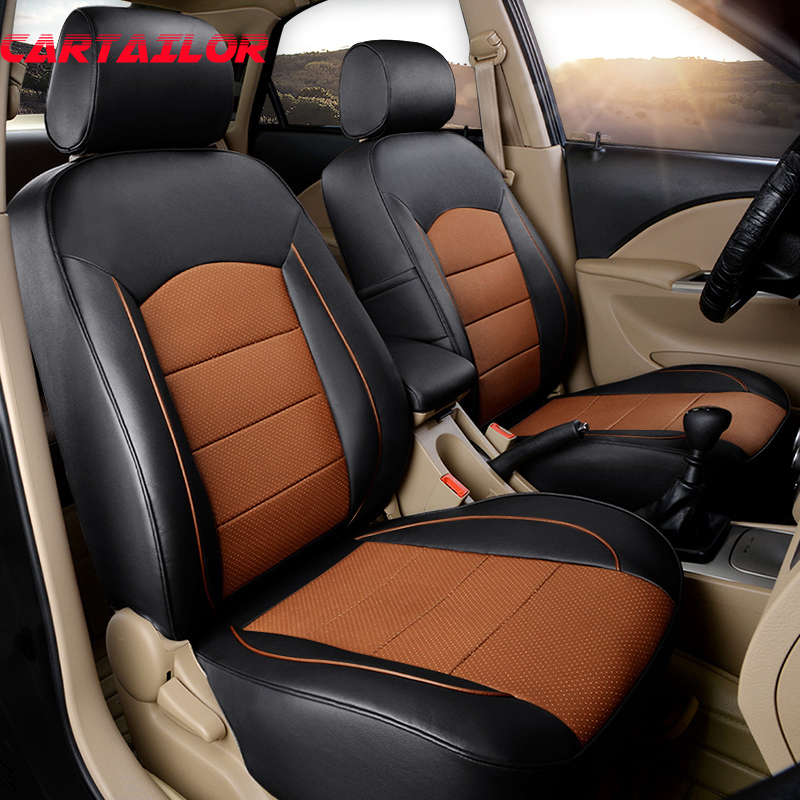 CARTAILOR Custom Leather Car Seat Cover Set For Acura Rdx
